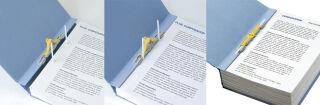 PLUS JAPAN Classeur d'archives ZEROMAMAX, A4 large, bleu
