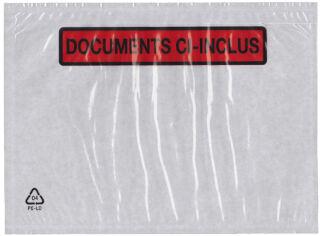dm-folien Pochettes porte documents, format 225 x 120 mm