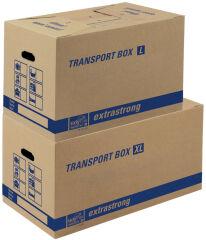 tidyPac Carton de transport XL, avec porte-étiquettes