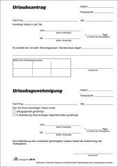 RNK Verlag Formulaire 'demande de congé', bloc, format A5