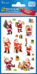 AVERY Zweckform ZDesign Stickers de Noël 'Père Noël'