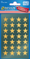 AVERY Zweckform ZDesign Stickers de Noël 'étoiles', or