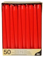 PAPSTAR Bougie de chandelier, 22 mm, en pack de 50, rouge
