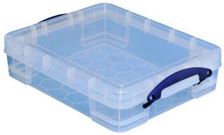 Boîte de rangement 11 litres, incolore - Really Useful Box