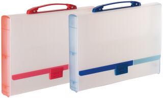 tarifold Valisette translucide, format A4, bleu