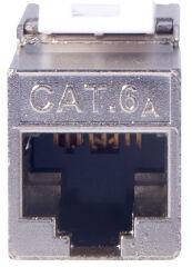 DIGITUS module Keystone cat.6A, blindé, gris