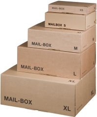 smartboxpro Carton d'expédition MAIL BOX, taille: L, marron