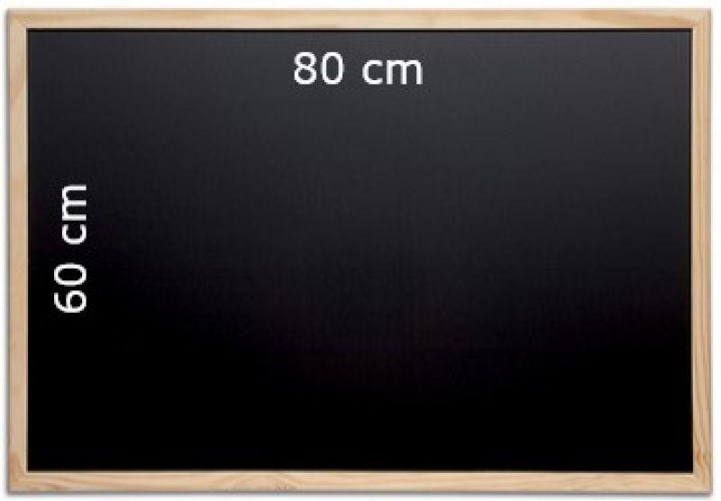 Tableau craie noir 80 cm x 60 cm - Tableau ardoise noir ...