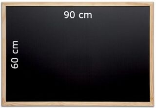 Tableau Ardoise à Craie Noir 90x60 cm - Maul