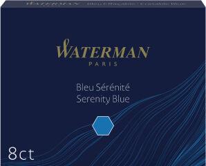 WATERMAN Cartouches d'encre longues, effaçable, bleu