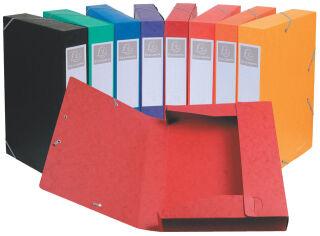 Boîte de classement Cartobox (x10), A4, 40 mm, assorties - EXACOMPTA