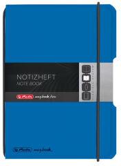 herlitz Carnet de notes my.book flex, A6, PP, bleu