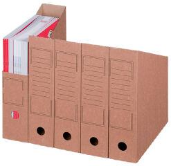 smartboxpro Collecteur vertical à archives, A4, marron