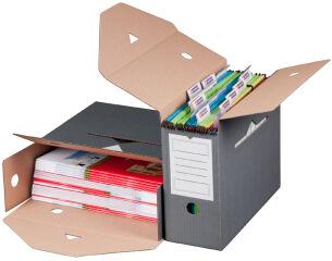 smartboxpro Boîte d'archives, pour dossiers suspendus, gris