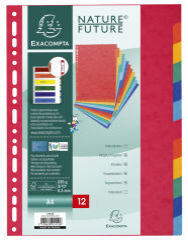 EXACOMPTA Intercalaires en carton, A4, 12 touches