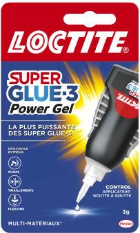 LOCTITE Colle instantanée Power Flex Gel Control, tube de 3g