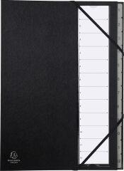 EXACOMPTA Trieur Ordonator, 1-12, A4, 12 compartiments, noir