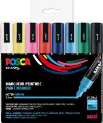 Étui de 16 marqueurs à pigment, couleurs standards POSCA (PC-5M)