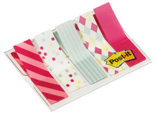 Post-it Marque-pages Index Mini, 11,9 x 43,2 mm, Gingham