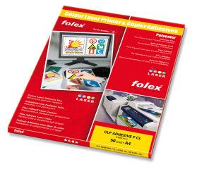FOLEX Film laser couleur, A4, autocollant, transparent