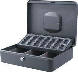 Caisse à monnaie avec trieur de pièces, gris foncé - Pavo