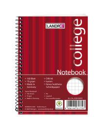 LANDRÉ bloc-notes 'college', A6, 160 feuilles, quadrillé