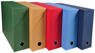 EXACOMPTA Boîte transfert papier toilé, A4, assorti