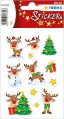 HERMA Stickers de Noël DECOR 'Little Rudolph'