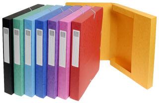 Boîtes de classement (x8) A4, 40 mm, assorties - EXACOMPTA