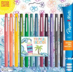 Étui de 12 stylos feutres Flair TROPICAL VACATION - Paper:Mate