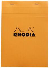 RHODIA Bloc agrafé No. 16, format A5, quadrillé 5x5, orange