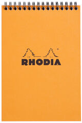 RHODIA Bloc spiralé, format A5, quadrillé 5x5, orange