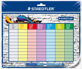 STAEDTLER Kit emploi du temps Lumocolor correctable, A4