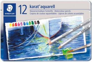 Étui de 12 crayons aquarellable karat aquarelle  - STAEDTLER