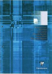 Clairefontaine Bloc de cours, A4, quadrillé 5x5, 200 pages