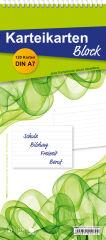 RNK Verlag Bloc-notes, fiches de format A8, ligné, blanc