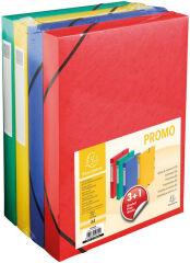 EXACOMPTA Boîte de classement pack promo 3+1, 40 mm, couleur