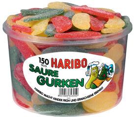 HARIBO Bonbons gélifiés aux fruits SAURE GURKEN, 150 pièces