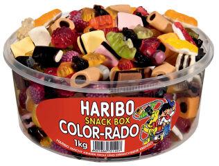 HARIBO Bonbons gélifiés aux fruits COLOR-RADO, boîte de 1 kg