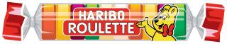 HARIBO Bonbon gélifié aux fruits ROULETTE en rouleau, 25 g