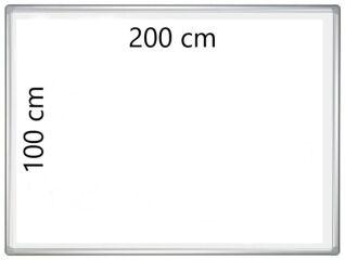 Tableau Blanc d'Ecriture et de Projection 200 cm x 100 cm - FRANKEN