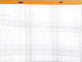 RHODIA Bloc agrafé No. 38, format A3+, quadrillé 5x5, orange