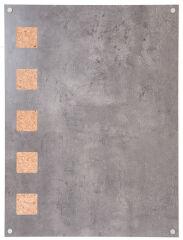 Tableau gris béton LIVING WALL 58x78 cm - Securit
