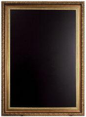 Ardoise murale GOLD 85x65 cm, avec cadre gravé en couleur or - Securit