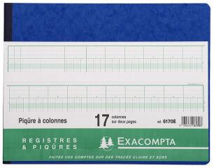 EXACOMPTA Piqûre à colonnes, 44 colonnes sur 2 pages