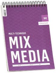 RÖMERTURM Bloc de dessin 'MIX MEDIA', A4, 30 feuilles