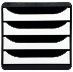 EXACOMPTA Module de classement BIG-BOX, 4 tiroirs, blanc