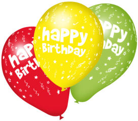 SUSY CARD Ballons gonflables 'Happy Birthday', assorti