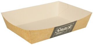 PAPSTAR Barquette snack 'pure', dimensions: 285 x 75 x 30 mm