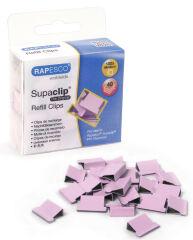 RAPESCO Clips à documents Supaclip 40, rose,